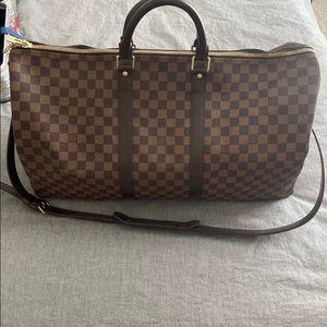 Authentic Louis Vuitton Keepall 55 Damier Ebene